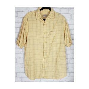 Woolrich Mens Yellow Windowpane Plaid Shirt LG